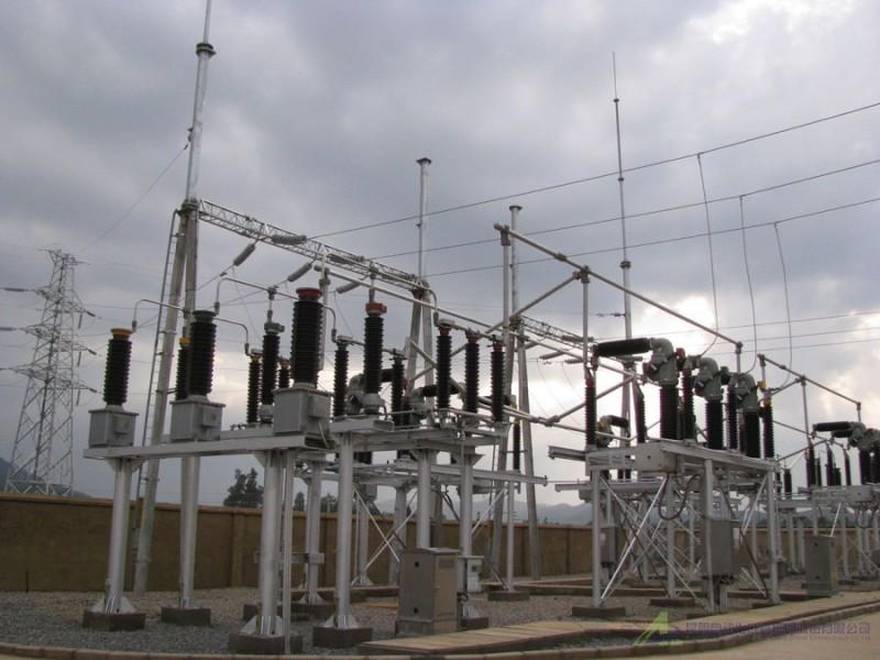 昆自集团师宗焦化110kv设计、设备、施工总变电所总承包(变电站施工实例)